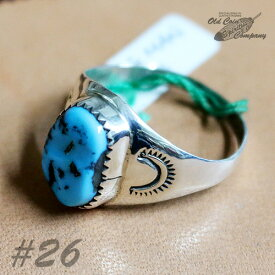 インディアンジュエリー リング #26 シルバー ターコイズ Indian jewelry - Ring - Kingman Mt キングマン 鉱山 メンズ レディース ギフト プレゼント おすすめ