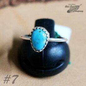 インディアンジュエリー リング #7 シルバー ターコイズ Indian jewelry - Ring - Kingman Mt キングマン 鉱山 メンズ レディース ギフト プレゼント おすすめ
