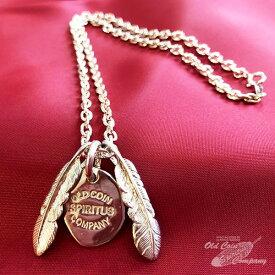 ネックレス ペンダント 30mmフェザー&チャームネックレス feather & charm necklace - 当店オリジナル シルバー silver925 ハンドメイド ギフト プレゼント