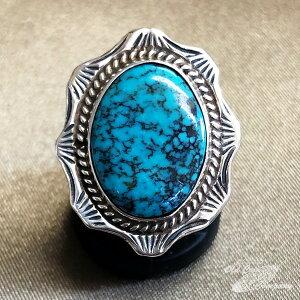 インディアンジュエリー ナバホ族 リング #16 シルバー ターコイズ Indian jewelry - Ring - ターコイズマウンテン 鉱山 メンズ レディース ギフト プレゼント おすすめ