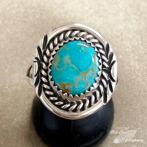 インディアンジュエリー ナバホ族 リング #18 シルバー ターコイズ Indian jewelry - Ring - ロイストン 鉱山 メンズ レディース ギフト プレゼント おすすめ