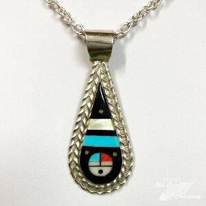 インディアンジュエリー ZUNI サンフェイス インレイ ペンダントトップ Indian jewelry Pendant Top メンズ レディース ギフト プレゼント おすすめ