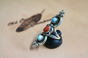 インディアンジュエリーリング#9Indianjewelry-Ring-KingmanMtandCoral