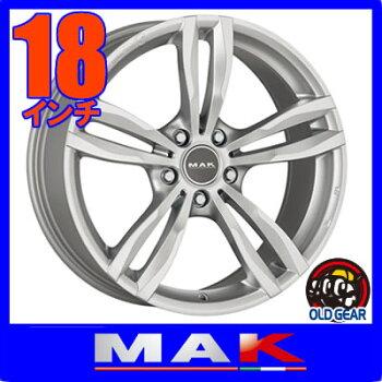 【BMW5シリーズ/X3/X4専用】◆MAKLUFTマックルフト◆サイズ:18×8.0J+435H-120ボア径:72.6◆カラー:シルバー◆新品ホイール:4本セット
