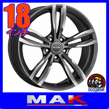 【BMWX3/X4等に】◆MAKLUFTFFマックルフトFF◆サイズ:F:8J+43R:9J+445H-120◆カラー:ガンメタリックミラー◆新品ホイール:4本セット
