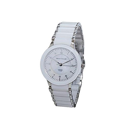 Mauro Jerardi マウロジェラルディ ソーラー レディース腕時計 ホワイトシェル MJ044-3