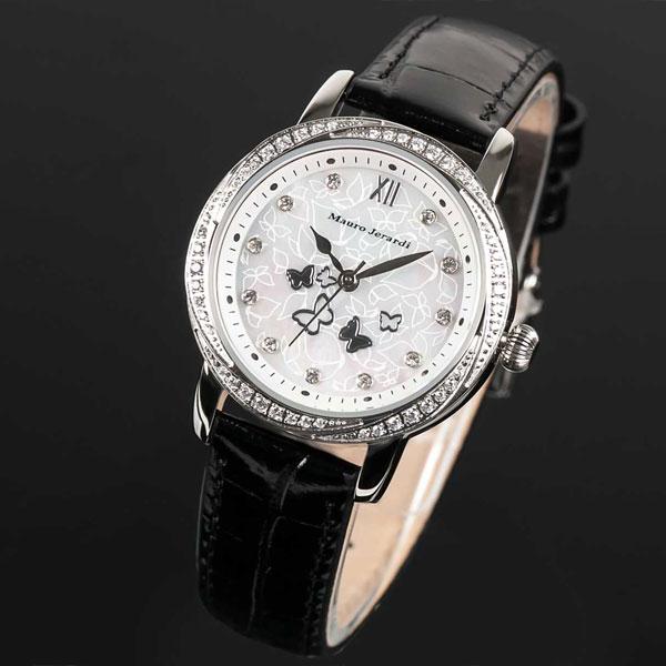 Mauro Jerardi マウロジェラルディ ソーラー レディース腕時計 バンドカラー:ブラック MJ046-1