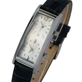 [グランドール]GRANDEUR レディースデュアルタイム腕時計 限定クロコ調型押し牛革ベルトダブルフェイス GSX048W12 / ベルトカラー:ダークブルー