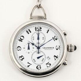 GRANDEURグランドールエレガンス クロノグラフ機能付懐中時計OLT001W1 カラー/白