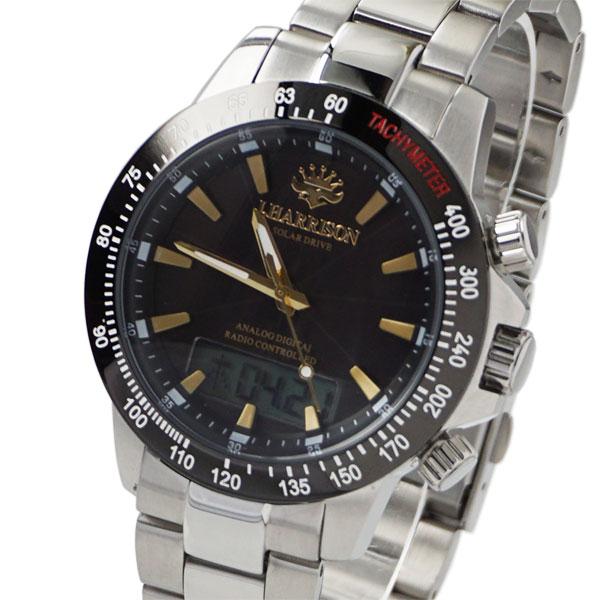 [ジョン・ハリソン]John Harrison デジアナ式多機能付ソーラー電波腕時計 JH-094GB