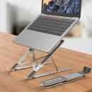 ノートパソコンスタンドpcスタンド折りたたみ式アルミ製高さ調節可能持ち運びに便利姿勢改善優れた軽量安定性滑り止め付きパソコンPCタブレット