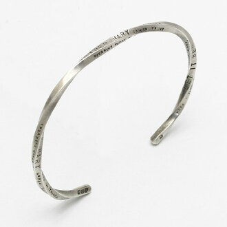 "amp japan and amp Japan ""LET IT BE"" narrow twist message Bangle 13AJ-381"