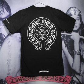 【あす楽対応】CHROME HEARTS/クロムハーツ Tシャツ CHクロス ロゴ ブラック ホワイト メンズ レディース 半袖 CHT-001 【送料無料】【ギフトOK】【smtb-k】【楽ギフ_包装】