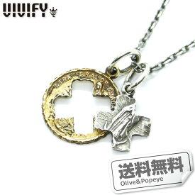 あす楽 VIVIFY/ビビファイ メダイ シルバー 真鍮 ネックレス マリア チェーン付き お得 VFN-093-CLX