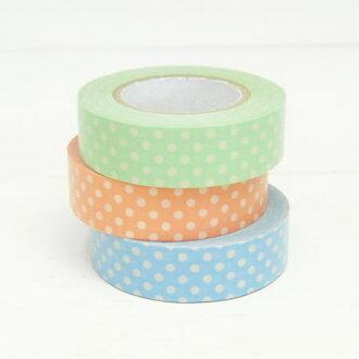 Printed masking tape 3 colors set (polka dot light color)