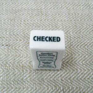 倉敷意匠計画室 事務用 磁器スタンプ (CHECKED)【確認済 英語 確認しました 見ました オフィススタンプ おしゃれ かわいい お仕事用 仕事で使えるはんこ 業務用 便利 伝言メモ 付箋に押す はん