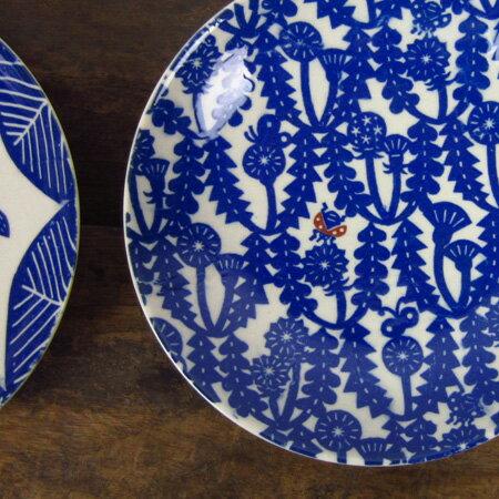 【送料450円〜】 倉敷意匠計画室 KATAKATA 印判手七寸皿