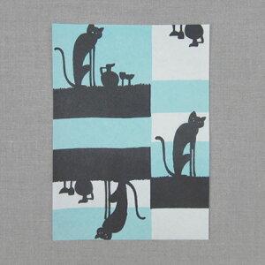 夜長堂レターセット夜猫