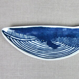 倉敷意匠計画室 KATAKATA 印判手長皿 クジラ