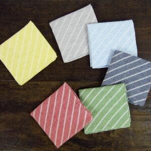 中川政七商店 motta029 ハンカチ 斜めストライプ ジャガード織り