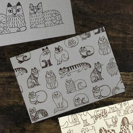 リサラーソン スケッチポストカード(活版)【猫 北欧雑貨 グッズ】