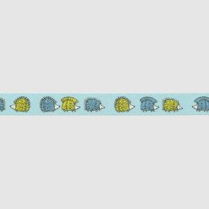 LisaLarsonリサ・ラーソンマスキングテープハリネズミ三兄弟15mm水色