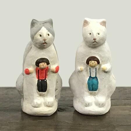 倉敷意匠計画室 にしおゆき 陶製人形 ねこかまくら