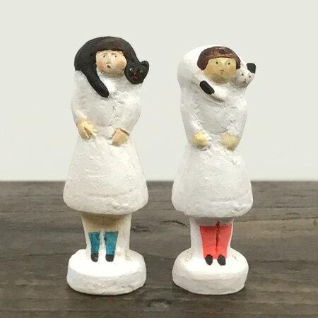 倉敷意匠計画室 にしおゆき 陶製人形 ねこマフラー