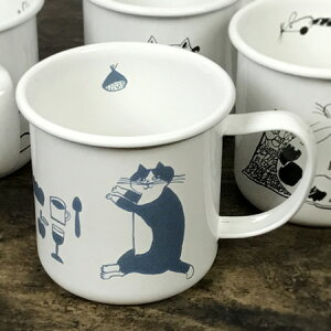 倉敷意匠計画室 トラネコボンボン ほうろうマグカップ