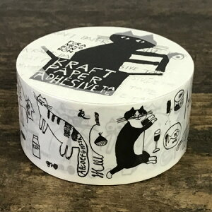 倉敷意匠計画室 トラネコボンボン クラフト粘着テープ【クラフトテープ 柄入り 梱包テープ パッキングテープ かわいい 猫グッズ 雑貨 プレゼント おしゃれ 日用品 ねこグッズ 猫雑貨 可愛