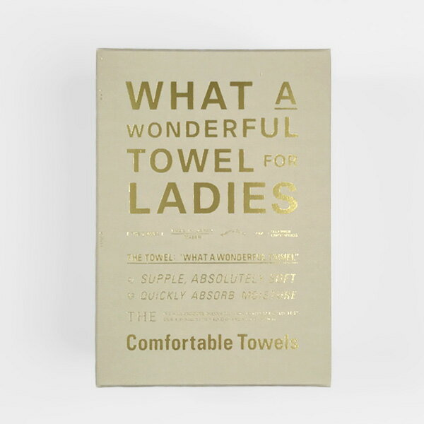 THE(ザ) THE FACE TOWEL for LADIES 箱入り