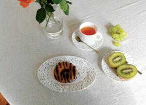 松尾ミユキミルクガラスバードソーサー