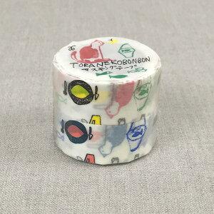 倉敷意匠計画室 トラネコボンボン マスキングテープ 20mm(記憶のモンプチ C+D)2色セット