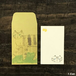 倉敷意匠計画室トラネコボンボンミニ封筒+カードセットS