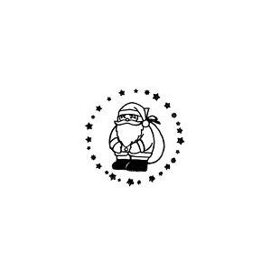 【対象商品3点以上でメール便送料無料】サンタクローススタンプ【ハンコはんこかわいい】