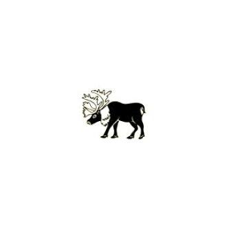 Animal stamp reindeer
