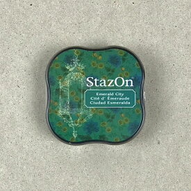 StazOn midi ステイズオン・ミディ エメラルドシティ【スタンプ台 インクパッド スタンプパッド 緑 お名前スタンプ メール便可】