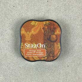 StazOn midi ステイズオン・ミディ オレンジゼスト【スタンプ台 インクパッド スタンプパッド お名前スタンプ メール便可】