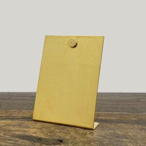 BRASS(ブラス) インフォメーション スタンド W/マグネット S【インフォメーションボード 卓上 案内板 おしゃれ かわいい 真鍮 ゴールド】
