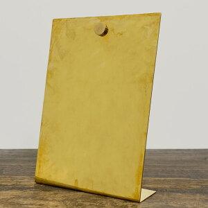 BRASS(ブラス) インフォメーション スタンド W/マグネット L【インフォメーションボード 卓上 案内板 おしゃれ かわいい 真鍮 ゴールド】