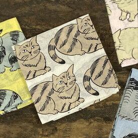 松尾ミユキ ハンカチ E【猫 雑貨 グッズ】【レディース かわいい おしゃれ お弁当包み お弁当つつみ 子供 ギフト プレゼント】
