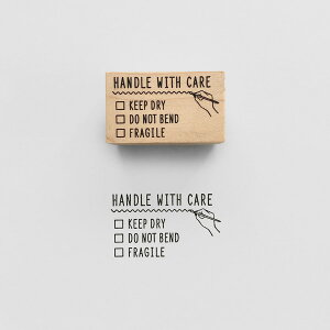 KNOOPWORKS(クノープワークス)〈HANDLE WITH CARE〉スタンプ 取扱注意