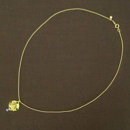KAMIORI KAORI モチーフ+手編みパーツ ネックレス gold