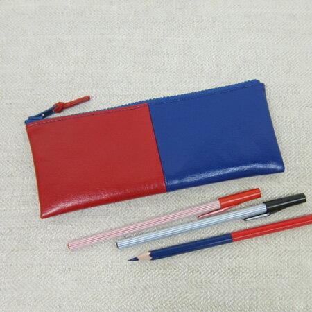 yuruliku 赤青ペンケース55 flat