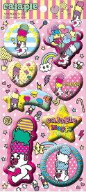 Calaple(カラプル) シャカプクメタルシール【手帳 シ-ル シ−ル seal ステッカー】【雑貨 ゆるきゃら】