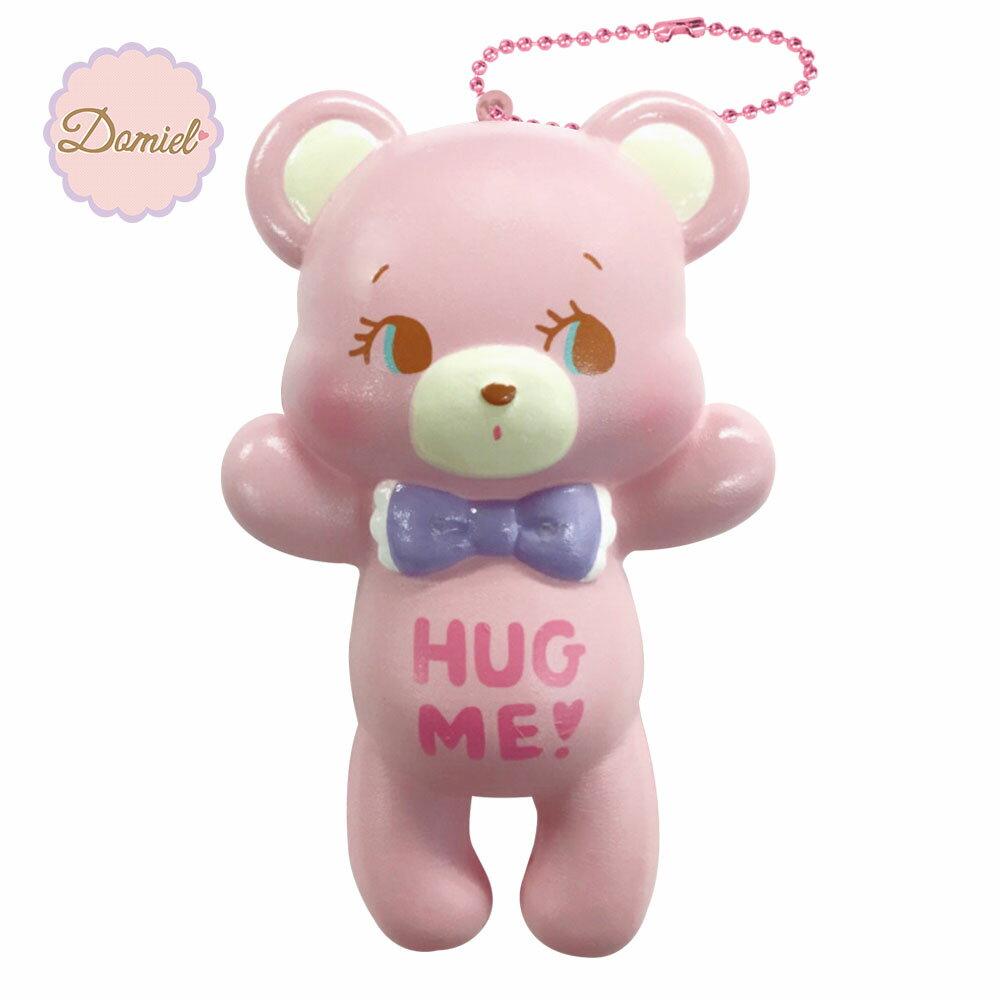 HUG ME! ハグミー ベア ぷにぷにマスコット スクイーズ ピンク【甘い香り付き】