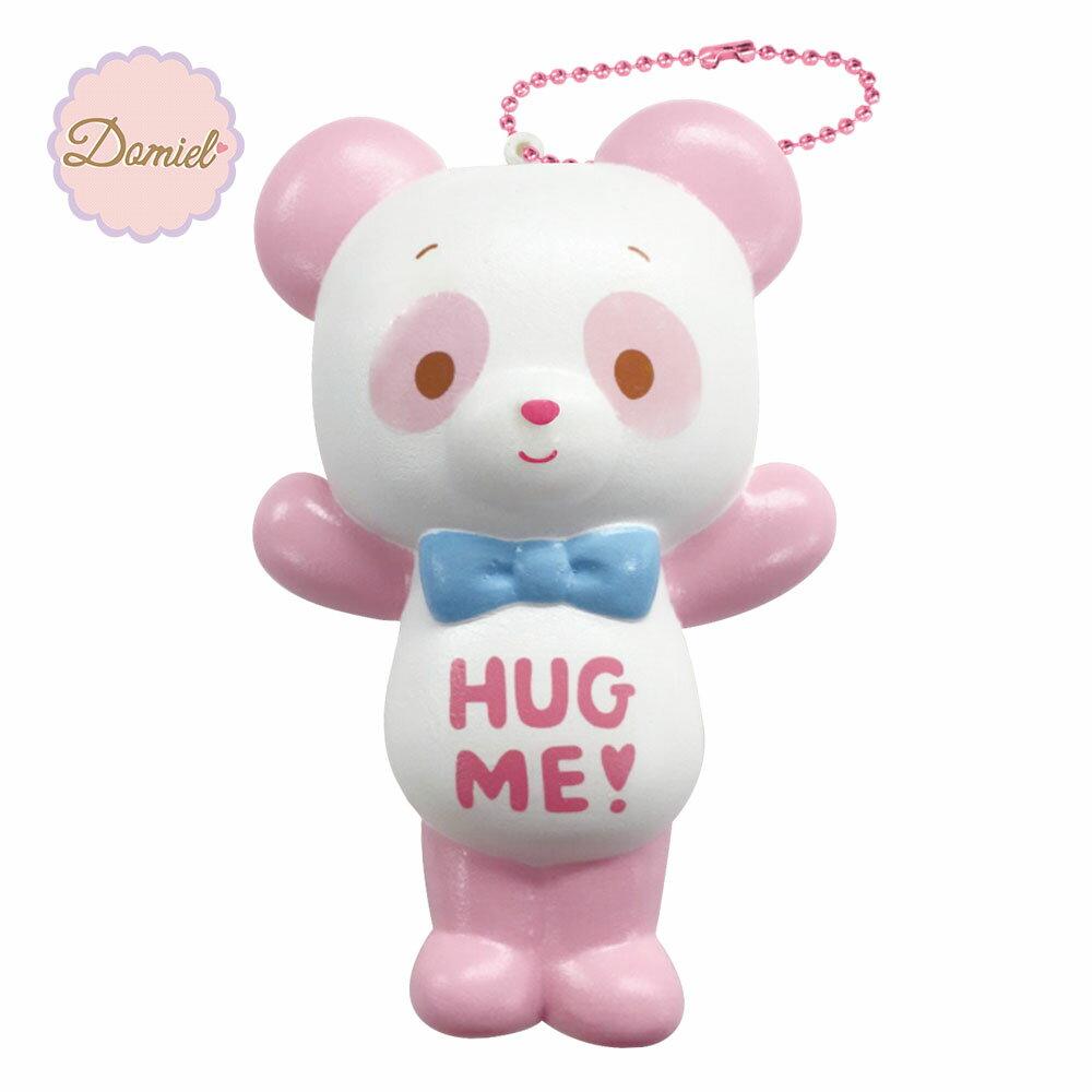 HUG ME! ハグミー パンダ ぷにぷにマスコット スクイーズ ピンク【甘い香り付き】