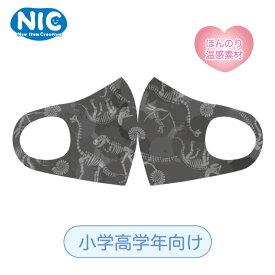 【SALE】NIC 洗って使える! あったかキッズマスク 恐竜化石 小学高学年向け 男の子 ほんのり温感素材 あたたかいマスク