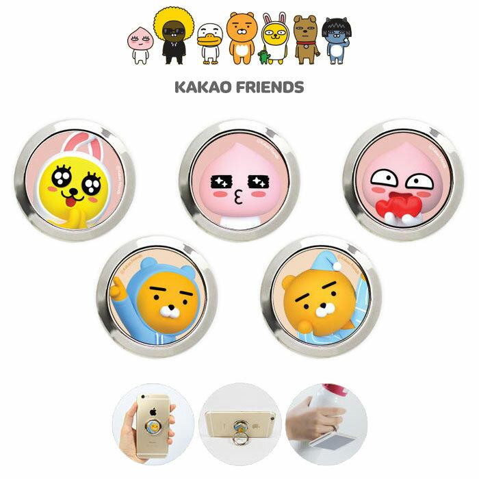 ★KAKAO Friends 3D ORing★カカオフレンズ3Dオリング 落下を防止するホールドリング【スタンド機能】貼り付けるだけ! [バンカーリング/Stand Ring/リングスタンド/スマートフォン用ホールドリング]【】