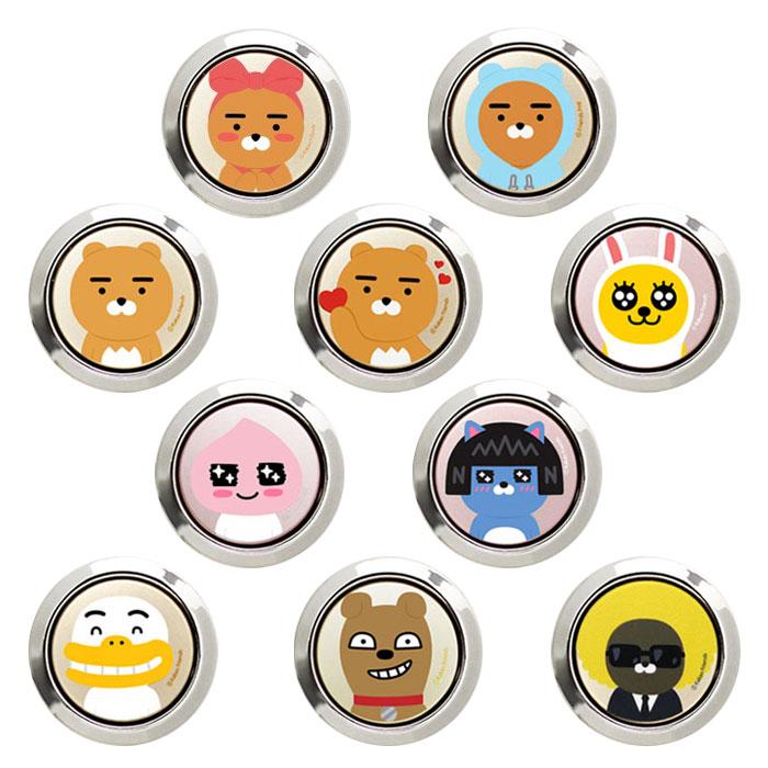 [KAKAO Friends ORing カカオ フレンズ オーリング] 落下を防止するホールドリング【スタンド機能】貼り付けるだけ! [バンカーリング/Stand Ring/リングスタンド/スマートフォン用ホールドリング]【】